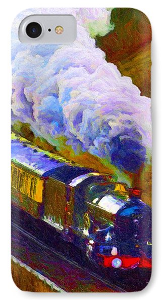 IPhone Case featuring the digital art Making Smoke by Chuck Mountain