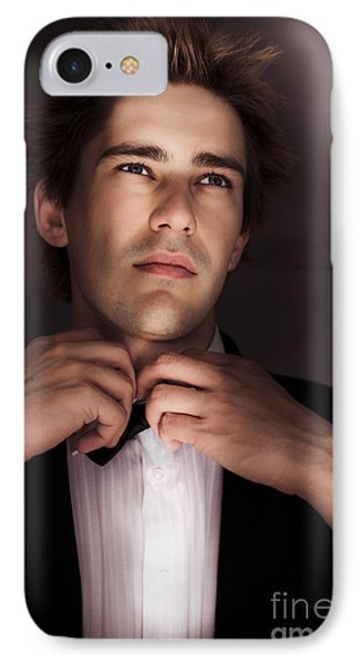 Man Getting Ready For Black Tie Formal Event IPhone Case