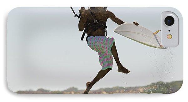 Man Kitesurfing IPhone Case