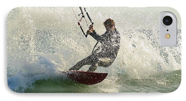 Man Kitesurfing Costa De La IPhone Case