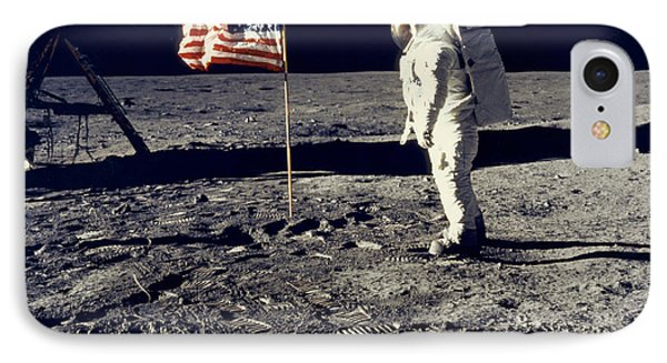 Man On The Moon IPhone Case by Neil Armstrong/Underwood Archive