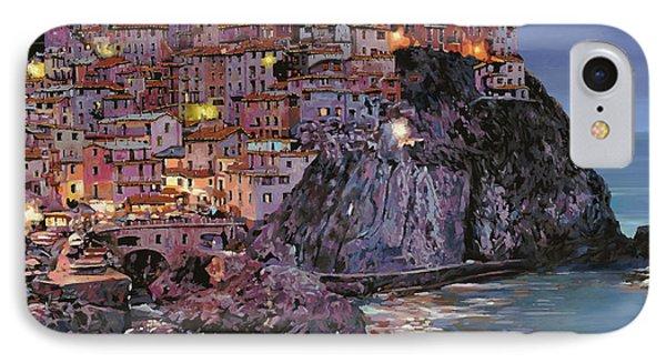 Manarola At Dusk IPhone Case by Guido Borelli