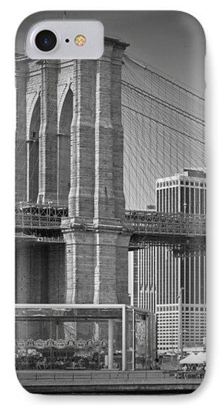 Manhattan Brooklyn Bridge IPhone Case by Melanie Viola