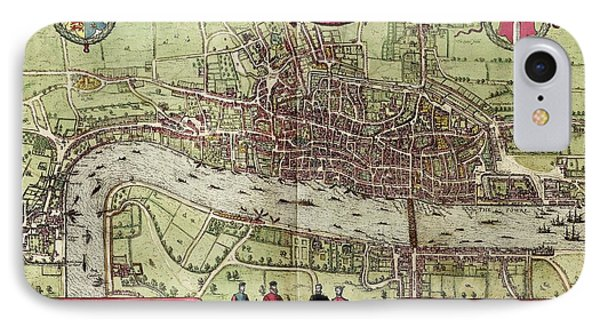 Tower Of London iPhone 7 Case - Map Of London by Library Of Congress, Geography And Map Division