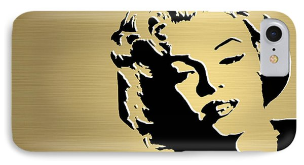 Marilyn Monroe Gold Series IPhone Case by Marvin Blaine