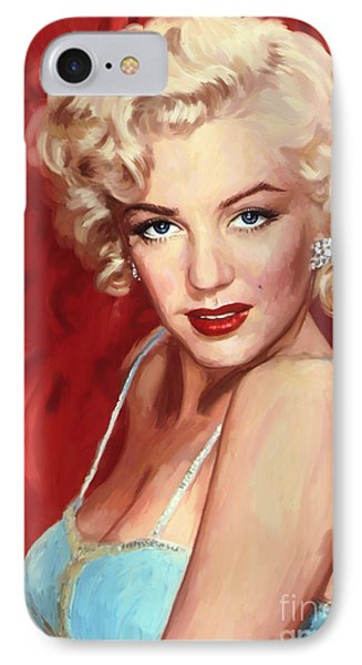 Marilyn Monroe IPhone Case by Tim Gilliland