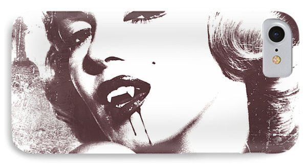 Marilyn Monroe Vampire IPhone Case by Mindy Bench