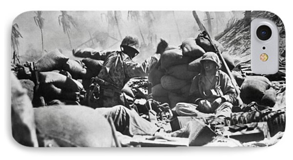 Marines Fight At Tarawa IPhone Case by Underwood Archives