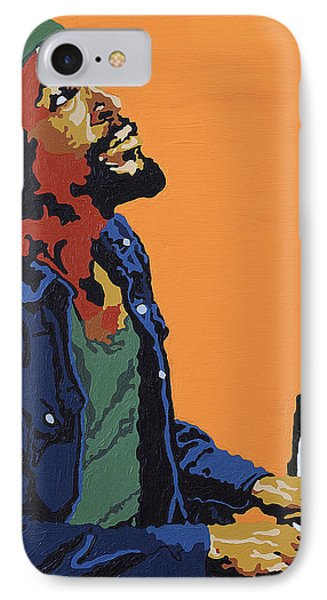 IPhone Case featuring the painting Marvin Gaye by Rachel Natalie Rawlins