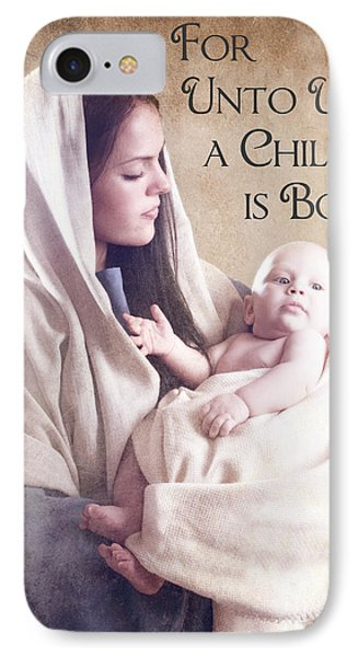 Mary And Jesus Phone Case by Cindy Singleton