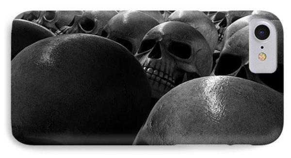 Massacre Of Skulls IPhone Case by Allan Swart