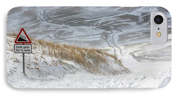 Massive Snow Drifts Blocking A Road IPhone Case by Ashley Cooper