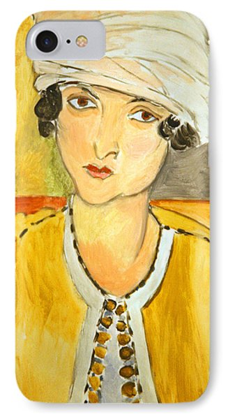 Matisse's Lorette With Turban And Yellow Jacket IPhone Case by Cora Wandel