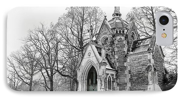 Mausoleum In Snow IPhone Case by Keith Allen