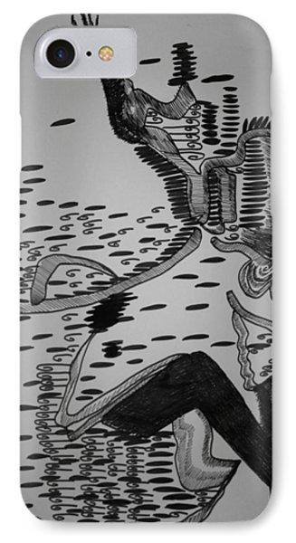 IPhone Case featuring the drawing Mbakumba Dance - Zimbabwe by Gloria Ssali