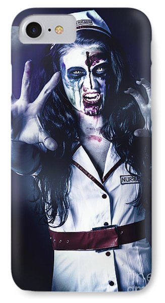 Medical Zombie Looking To Kill At Dead Of Night IPhone Case by Jorgo Photography - Wall Art Gallery