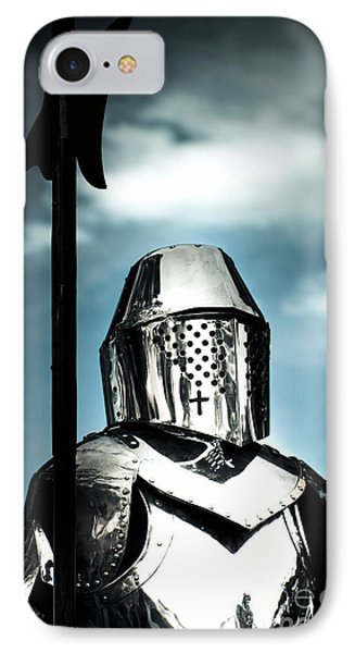 Medieval Knight Holding Weapon IPhone Case by Jorgo Photography - Wall Art Gallery