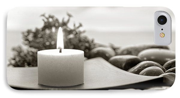 Meditation Candle Phone Case by Olivier Le Queinec