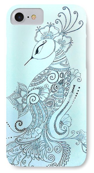 Mehndi Peacock IPhone Case