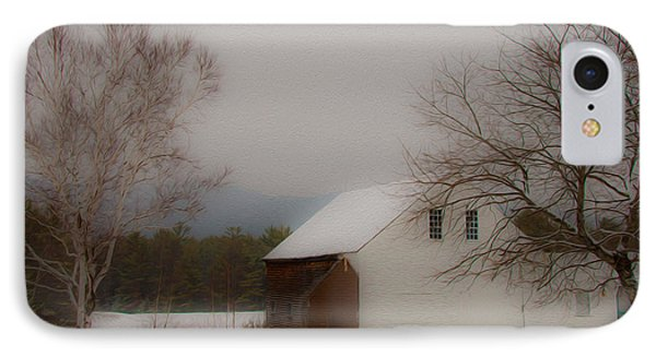 IPhone Case featuring the photograph Melvin Village Barn by Brenda Jacobs