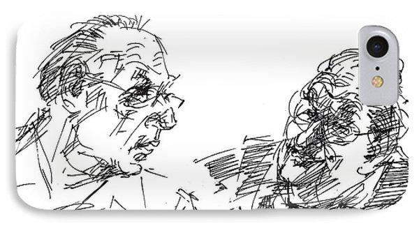 Men Talking IPhone Case by Ylli Haruni