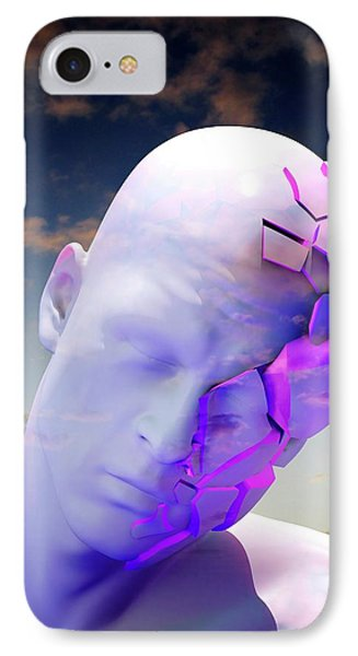 Mental Health Degeneration IPhone Case by Tim Vernon