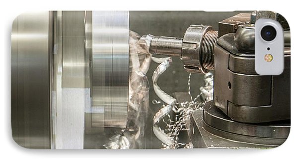 Metal Tooling Shop Floor IPhone Case by Photostock-israel