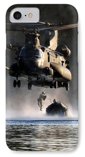 Mh-47 Chinook Helicopter IPhone Case by Celestial Images