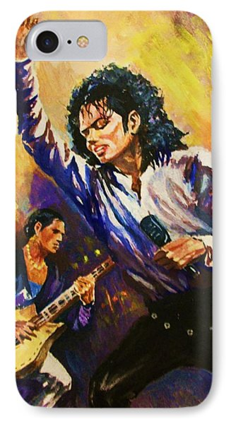 IPhone Case featuring the painting Michael Jackson In Concert by Al Brown