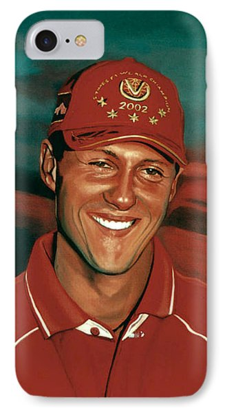 Michael Schumacher IPhone Case by Paul Meijering