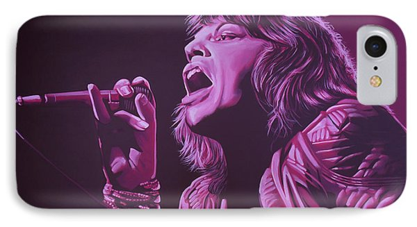 Rolling Stone Magazine iPhone 7 Case - Mick Jagger 2 by Paul Meijering