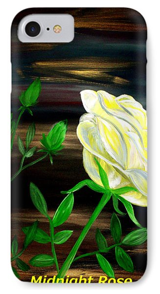 Midnight Rose IPhone Case by Mark Moore