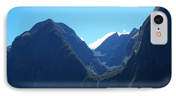 IPhone Case featuring the photograph Milford Sound Waterfall II by Constance Drescher