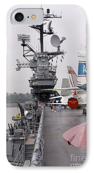 Military Jets On Aircraft Carrier IPhone Case by Mark Williamson