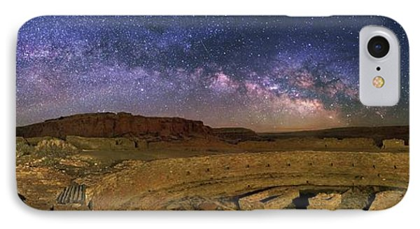 Milky Way Over Chaco Canyon Ruins IPhone Case