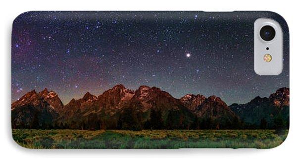 Milky Way Over Grand Teton National Park IPhone Case by Babak Tafreshi