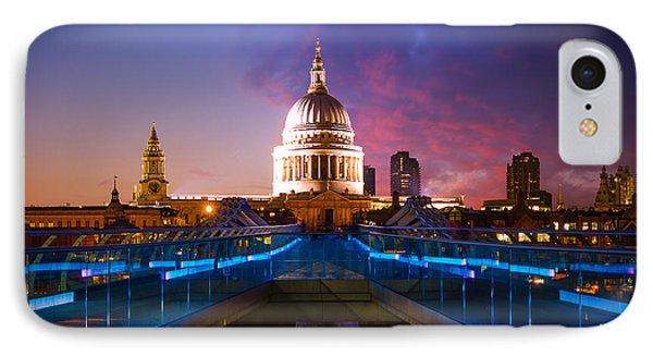 Millennium Bridge Sunset IPhone Case by Fiona Messenger