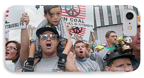 Miners Rally Against Coal Burning Limits IPhone Case