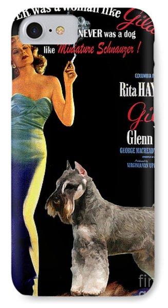 Miniature Schnauzer Art Canvas Print - Gilda Movie Poster IPhone Case by Sandra Sij