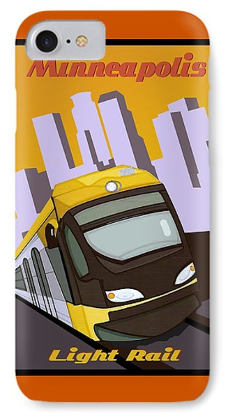 Minneapolis Light Rail Travel Poster IPhone Case