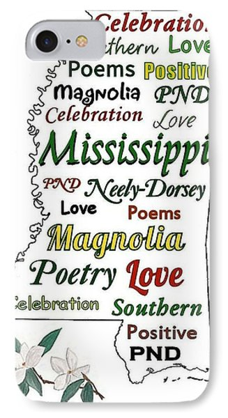 Mississippi Magnolia Love Phone Case by Patricia Neely-Dorsey