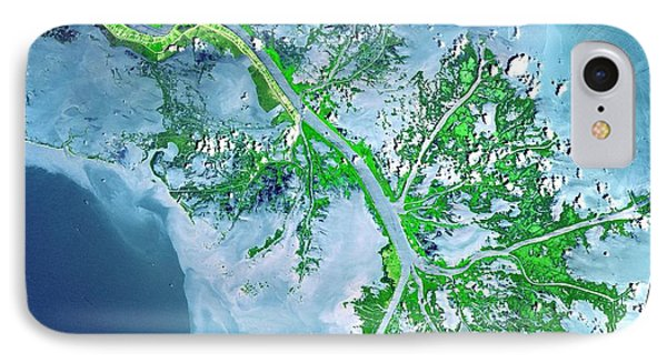 Mississippi River Delta IPhone Case by Celestial Images
