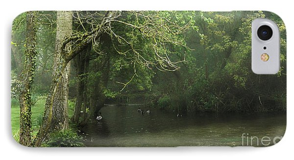 Misty Morning In Clatford IPhone Case by Andrew Middleton
