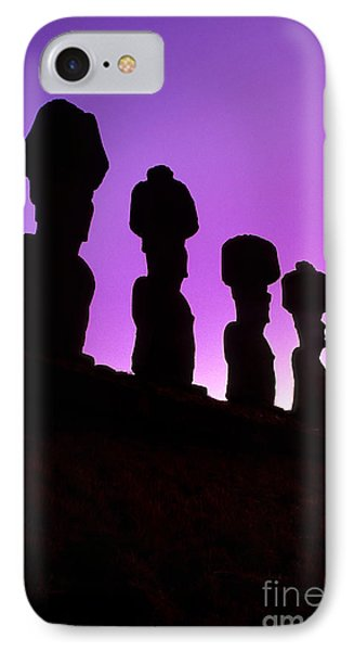 Moais Easter Island Chile IPhone Case by Ryan Fox