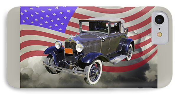 Model A Ford Roadster Convertible Antique Car IPhone Case by Keith Webber Jr