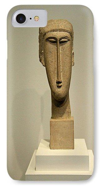Modigliani's Head Of A Woman IPhone Case by Cora Wandel