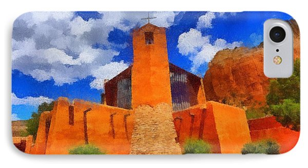 IPhone Case featuring the digital art Monastery Of Christ In The Desert by Carrie OBrien Sibley