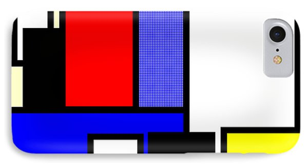 Mondrian Composition IPhone Case