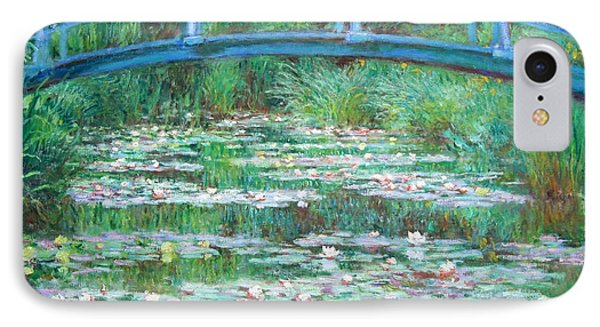 IPhone Case featuring the photograph Monet's The Japanese Footbridge by Cora Wandel