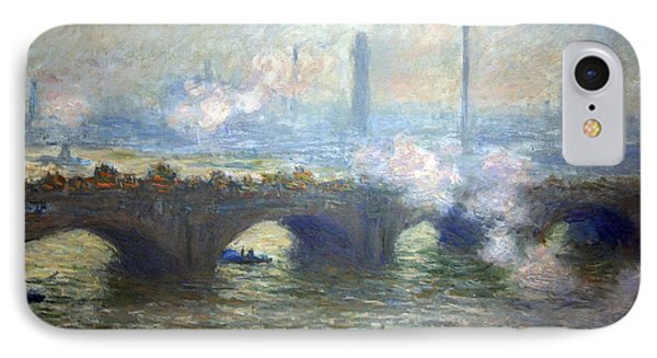 Monet's Waterloo Bridge On A Gray Day IPhone Case by Cora Wandel